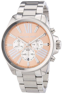 Michael Kors Wren Chronograph Rose Dial Stainless Steel Ladies Watch Mk5837 Womens Watches Michael Kors