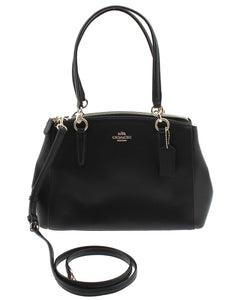 Coach Small Christie Carryall In Crossgrain Leather F57520 Black Womens Handbags Coach