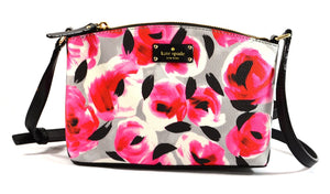 Kate Spade WKRU4194 New York Grove Street Printed Millie Crossbody Shoulder Handbag Purse (Rose Bed) Womens Handbags Kate Spade