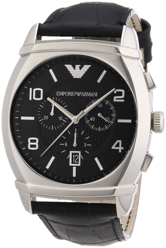 Emporio Armani Men'S Ar0347 Classic Black Chronograph Dial Watch Mens Watches Emporio Armani