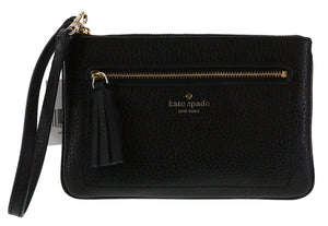 Kate Spade WLRU2657 New York Chester Street Tinie Pebbled Leather Wristlet Handbag WLRU2657 Womens Handbags Kate Spade