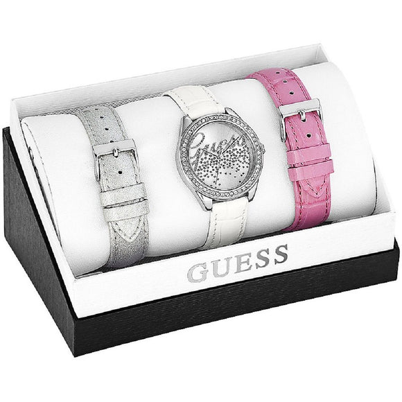 Guess - Wristwatch Con Cinturini Intercambiali, Quartz Analog, Leather Womens Watches Guess