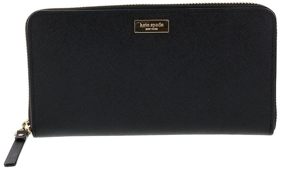 Kate Spade WLRU2669 New York Laurel Way Neda Saffiano Leather Zip Around Wallet Womens Wallets Kate Spade