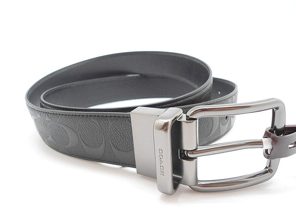 Wide Harness Cut-To-Size Reversible Signature Leather Belt (Coach F55157) Belts Coach