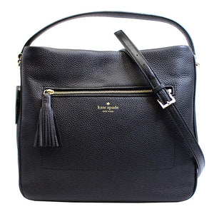 Kate Spade WKRU4224 Michaela Chester Street Black Hobo Wkru4224 Womens Handbags Kate Spade