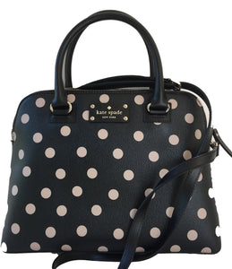 Kate Spade WKRU3844 New York Wellesley Printed Small Rachelle Satchel Handbag Purse (Black/Decobeige) Womens Handbags Kate Spade