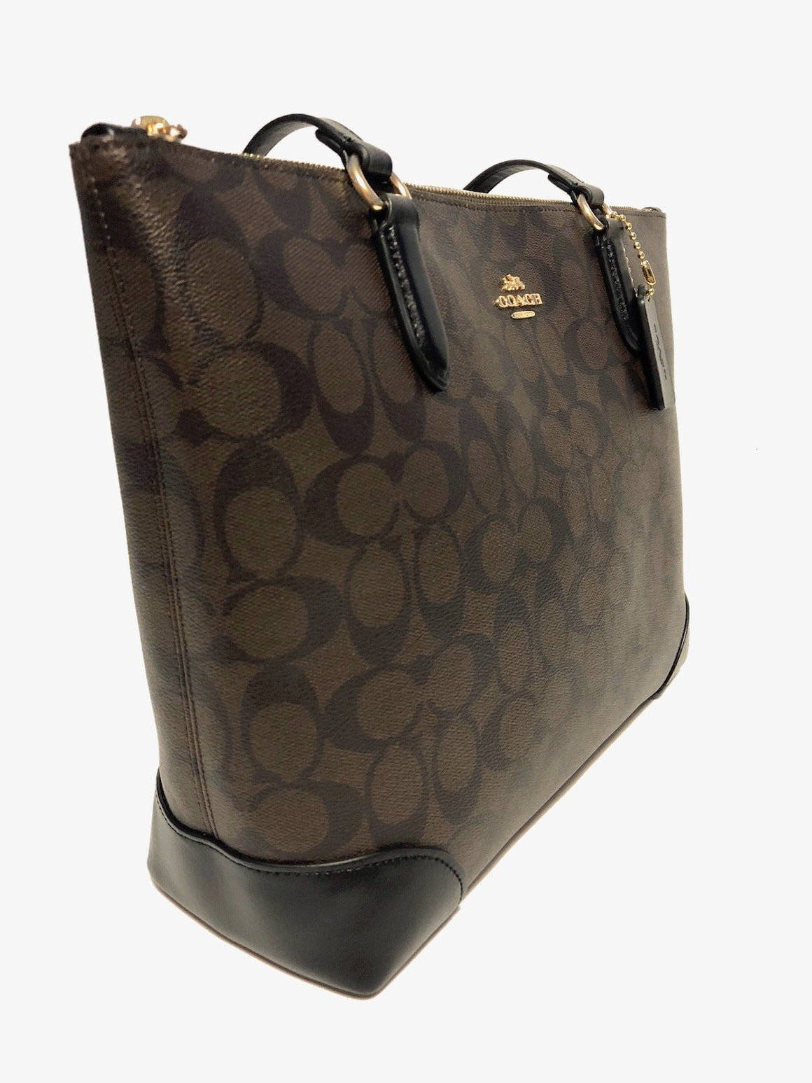 Zip Top Tote In Signature Canvas (Coach F29208) Womens Handbags Coach