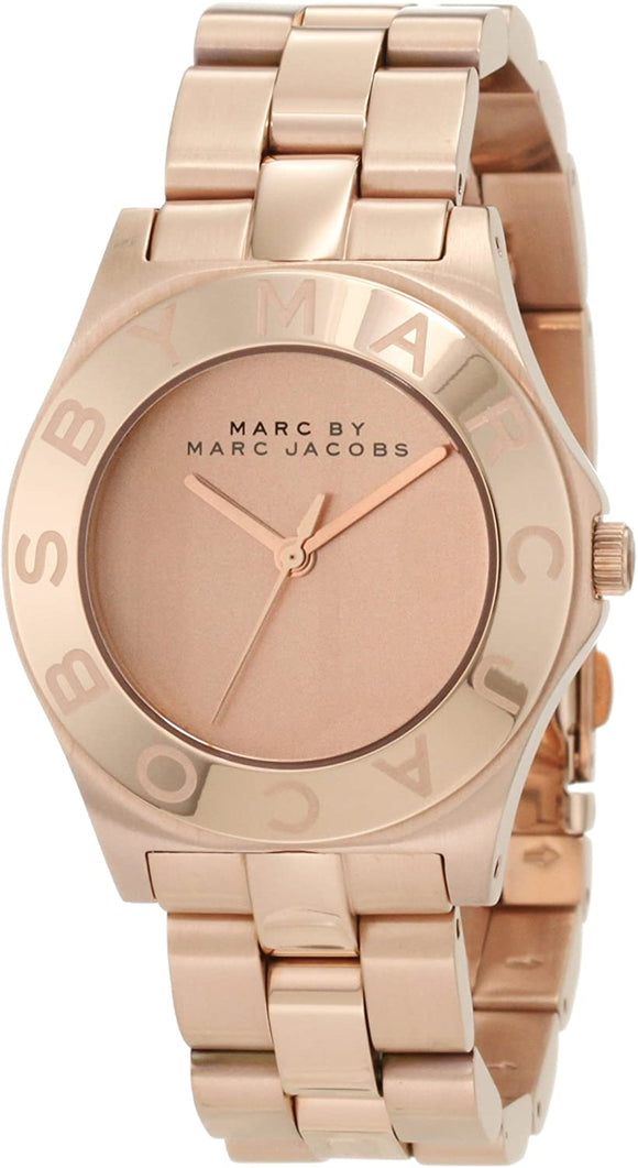 Marc by Marc Jacobs Blade Rose Dial Rose Gold Ladies Watch MBM3127