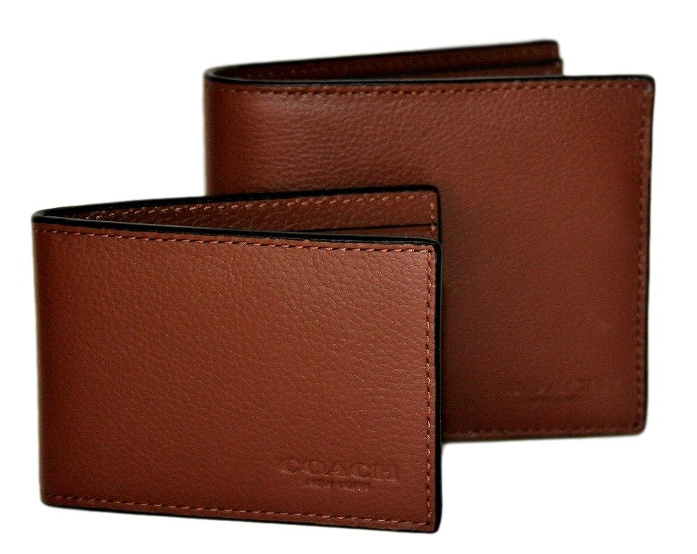 e9e97b0d030d4 Compact Id Wallet In Sport Calf Leather (Coach F64118) - Watchcove
