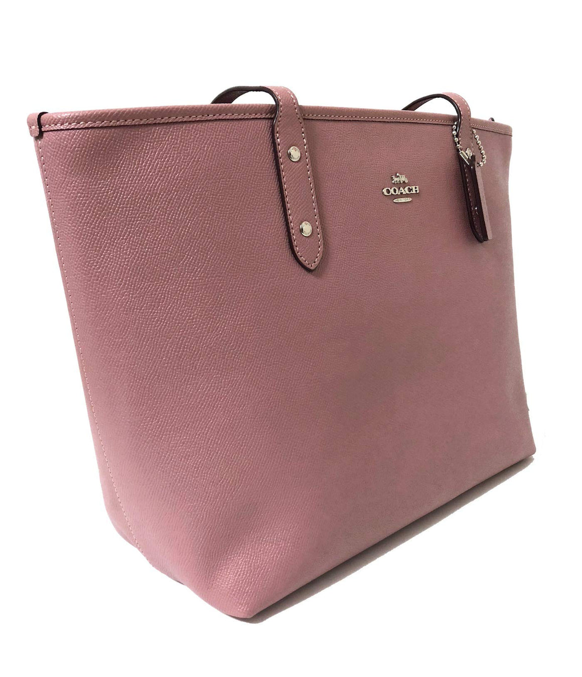 City Zip Tote In Crossgrain Leather (Coach F58846)