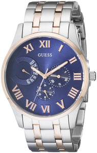 Guess Men'S U0607G2 Stainless Steel & Rose Gold-Tone Multi-Function Watch Mens Watches Guess