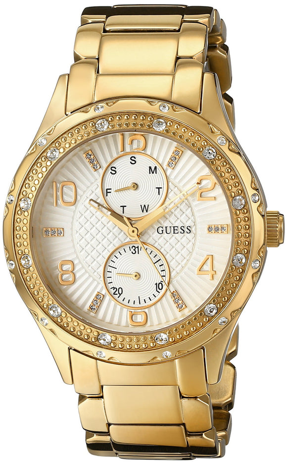 Guess Women'S U0442L2 Mid-Size Gold-Tone Multi-Function Watch Womens Watches Guess
