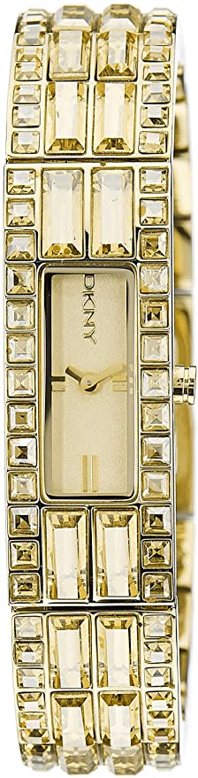 DKNY Champagne Dial Gold Ion-plated Ladies Watch