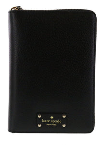 Kate Spade  New York Wellesley 2016 Leather Zip Around Personal Planner Agenda Organizer Black Electronics Kate Spade
