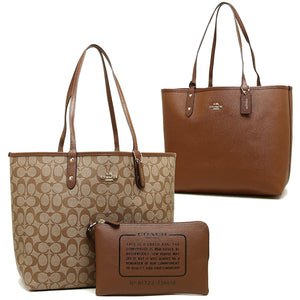 Reversible City Tote In Signature (Coach F36658) Womens Handbags Coach