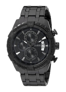 Guess Men'S U0522G2 Stainless Steel Black Ionic Plated Chronograph Watch With Date Function Mens Watches Guess