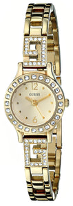 Guess Women'S U0411L2 Iconic Gold-Tone Jewelry Inspired Watch With Self-Adjsutable Bracelet Womens Watches Guess