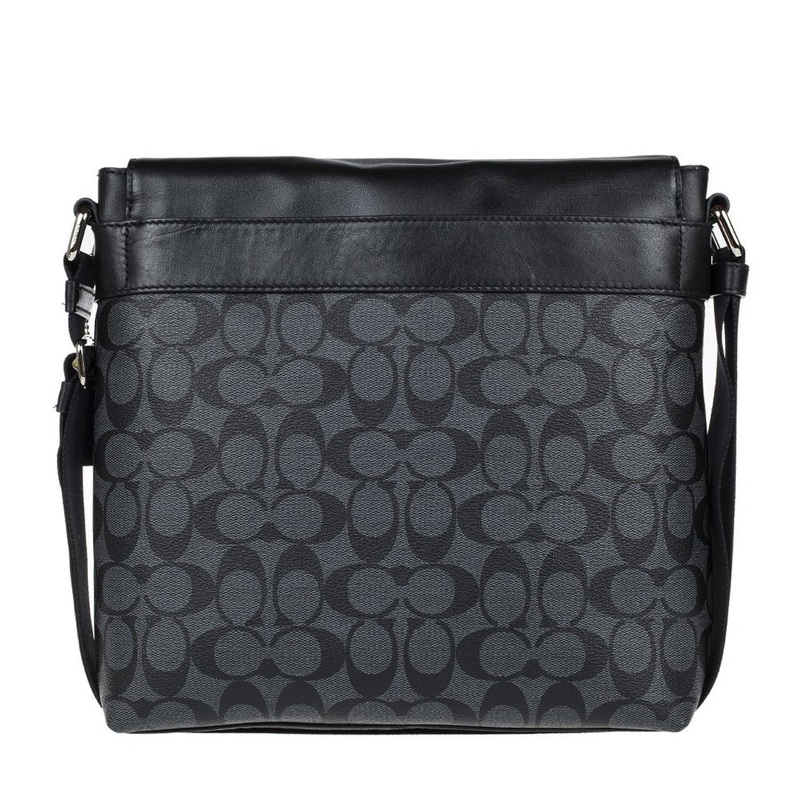 Charles Small Messenger In Signature (Coach F54771) Charcoal/Black Mens Bags Coach