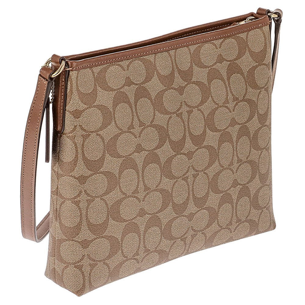 File Crossbody In Signature Canvas (Coach F29210) Womens Handbags Coach