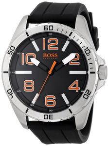 Boss Orange Men'S 1512943 Big Time Analog Display Quartz Black Watch Mens Watches Hugo Boss
