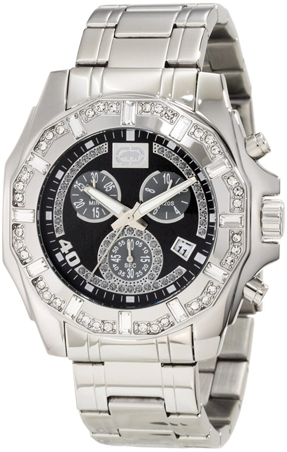 Marc Ecko Men's E8M055MV Stone on Metal Three-Eye Chronograph Watch