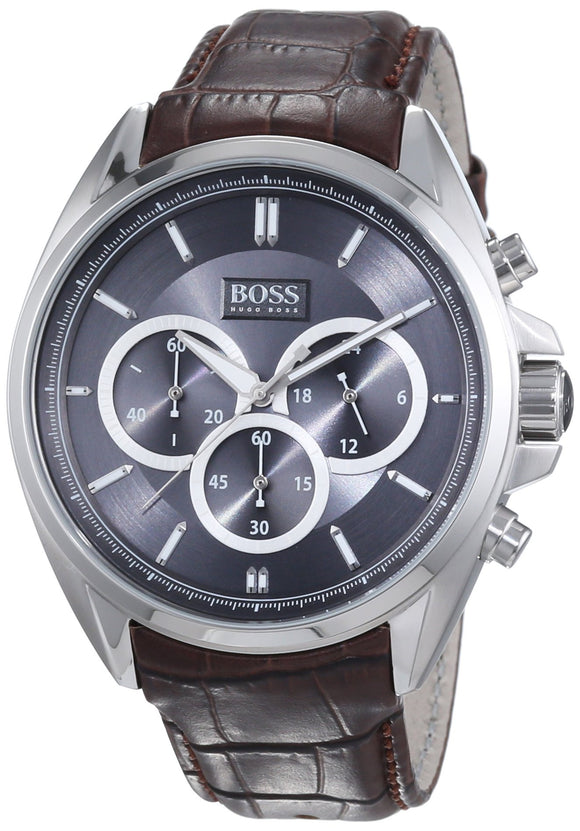 Hugo Boss Anthracite Dial Ss Chronograph Quartz Mens Watch 1513035 Mens Watches Hugo Boss
