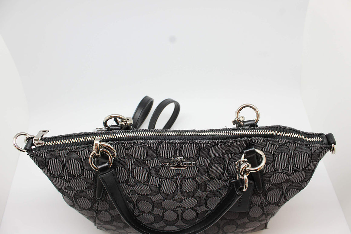 Small Kelsey Satchel In Signature Jacquard (Coach F27582)