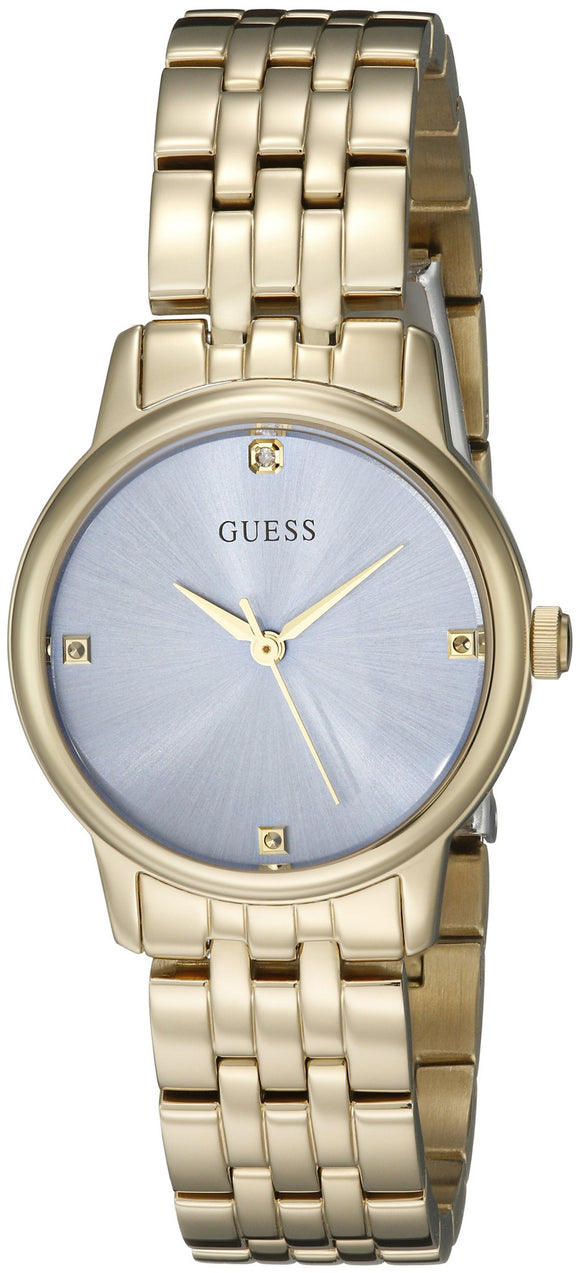 Guess Women'S U0533L2 Dressy Gold-Tone Watch With Genuine Crystals & Self-Adjustable Links Womens Watches Guess