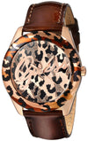 Guess Women'S Quartz Stainless Steel And Leather Casual Watch, Color:Brown (Model: U0455L3)