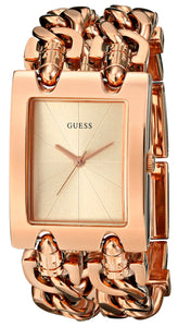 Guess Women'S U0073L2 Brilliance On Links Rose Gold-Tone Bracelet Watch Womens Watches Guess