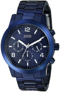 Guess Men's U0123G3 Blue Iconic Chronograph Watch Mens Watches Guess