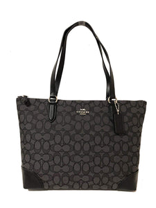 Zip Top Tote In Signature Jacquard (Coach F29958) Womens Handbags Coach