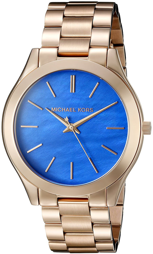 Michael Kors Women'S Slim Runway Rose Gold Watch Mk3494 Womens Watches Michael Kors