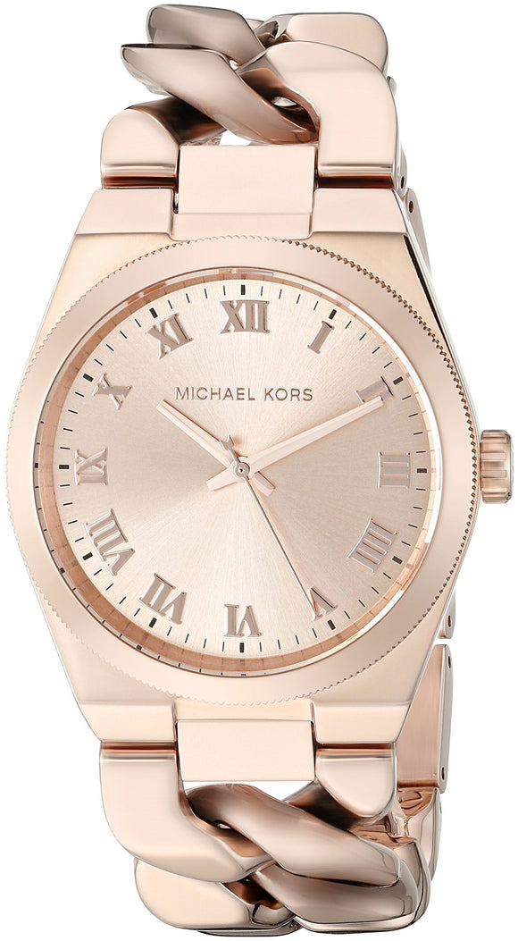 Michael Kors Women'S Channing Rose Gold-Tone Watch Mk3414 Womens Watches Michael Kors