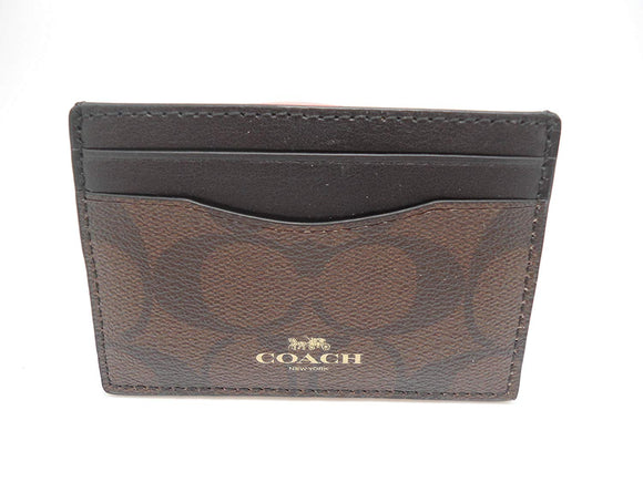 Coach Signature Pvc Card Case Womens Wallets Coach