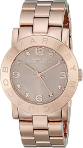 Marc by Marc Jacobs Women's MBM3221 Analog Display Analog Quartz Rose Gold Watch Womens Watches Marc by Marc Jacobs