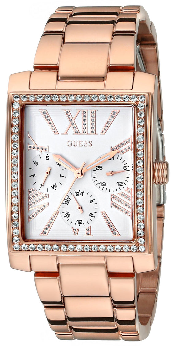 Guess Women'S U0446L3 Stunning Retro Rose Gold-Tone Multi-Function Watch Womens Watches Guess