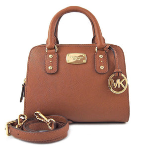 Michael Kors Saffiano Leather Mini Satchel In Luggage Brown Womens Handbags Michael Kors