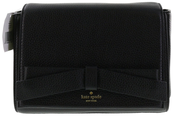 Kate Spade WKRU3941 New York Avalon Place Lyris Pebbled Leather Shoulder Bag Handbag (Black) Womens Handbags Kate Spade