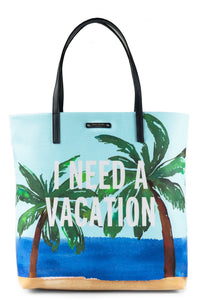 Kate Spade WKRU4425 I Need A Vacation' Bon Shopper Tote, Multi Womens Handbags Kate Spade