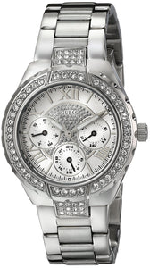Guess Women'S U0111L1 Sparkling Silver-Tone Hi-Energy Mid-Size Watch Womens Watches Guess
