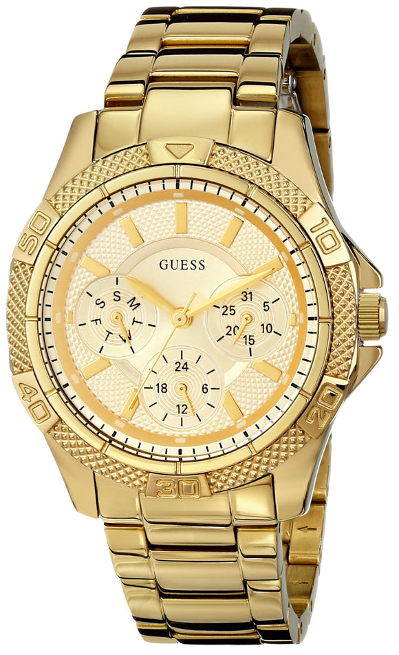 Guess Women'S U0235L5 Dynamic Feminine Mid-Size Multi Function Gold-Tone Sport Watch Womens Watches Guess
