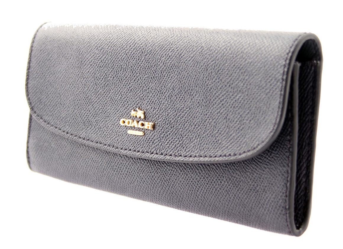 Soft Wallet In Crossgrain Leather (Coach F59949)