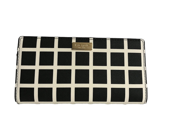 Kate Spade WLRU2673 New York Laurel Way Printed Stacy Wallet (Checkered) Womens Wallets Kate Spade