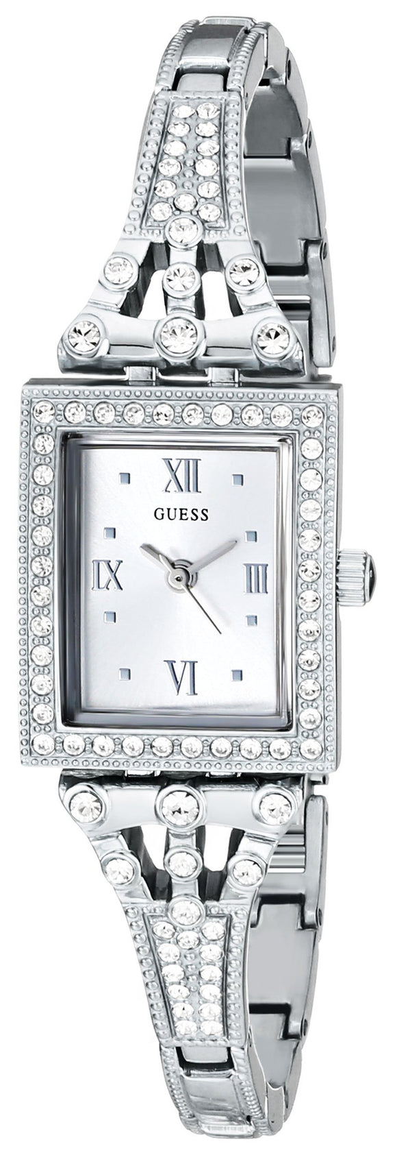 Guess Women's U0430L1 Silver-Tone Jewelry-Inspired Watch Womens Watches Guess