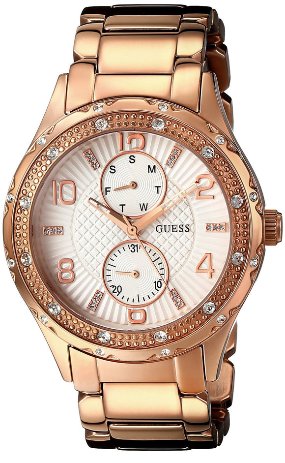 Guess Women'S U0442L3 Mid-Size Rose Gold-Tone Multi-Function Watch Womens Watches Guess