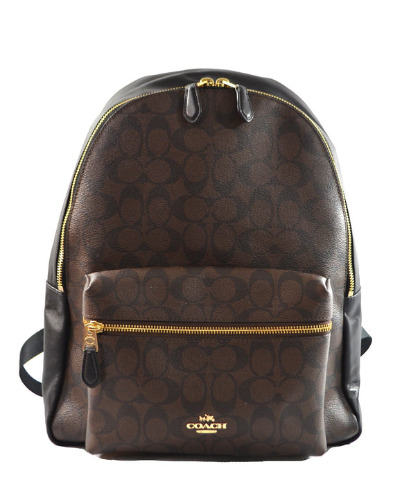 Charlie Backpack In Signature (Coach F58314) Mens Backpacks Coach