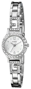 Guess Women'S U0411L1 Silver-Tone Jewelry Inspired Watch With Self-Adjustable Bracelet Womens Watches Guess