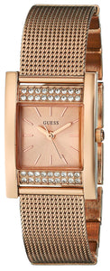 Guess Women'S U0127L3 Timeless Shine Crystal Mesh Rose Gold-Tone Watch Womens Watches Guess