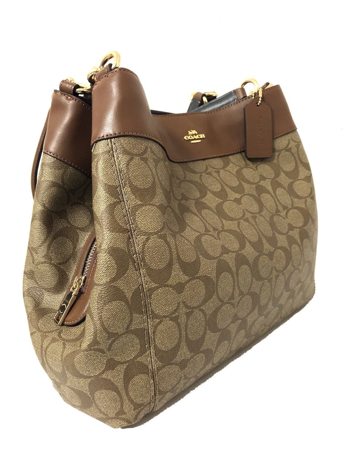 Lexy Shoulder Bag In Signature Canvas (Coach F27972)